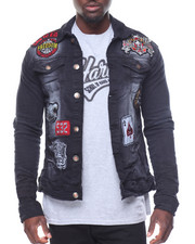 Denim Jackets - Patchwork Denim Jacket