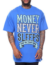 Big & Tall - Money Never Sleeps S/S Tee (B&T)-2122103