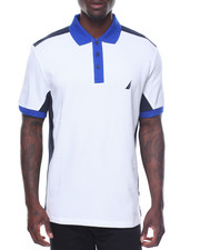 Polos - Pique Color Block Short Sleeve Polo