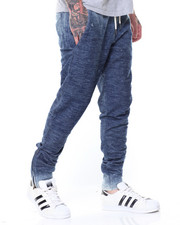 Jeans & Pants - Fleece Denim Joggers