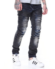 Men - Sandblasted Cargo Biker Jean