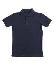 Holiday Shop - S/S Solid Pique Polo (4-7)-2123343