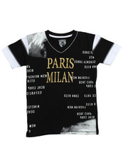 Sizes 8-20 - Big Kids - S/S Paris Milan V-neck Graphic Tee (8-20)