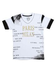 Boys - S/S Paris Milan V-neck Graphic Tee (8-20)