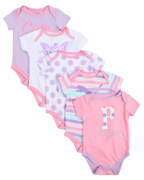 Puma - S/S 5 Pack Bodysuit (Infant)