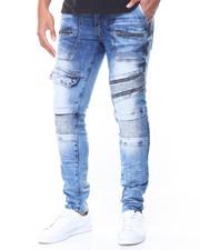 Men - Pocket/Zip Moto Jeans