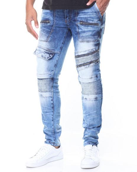 Copper Rivet - Pocket/Zip Moto Jeans