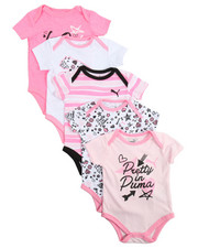 Puma - S/S 5 Pack Bodysuit (Infant)