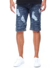Men - Destructed Denim Shorts