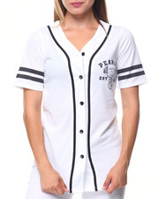 Women - Snoopy 50 Front/Back Patch Button Down Baseball Shirt