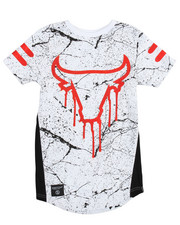 SWITCH - Allover Marble Print Bull Foil Tee (8-20)