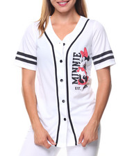 Polos & Button-Downs - Minnie 28 Front/Back Patch Button Down Baseball Shirt