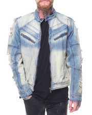 Denim Jackets - Dip Dye Denim Jacket
