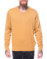 Sweatshirts & Sweaters - V Neck Knit Sweater
