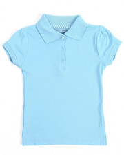 DRJ School Uniforms - S/S Girls Polo Shirt (4-6X)