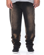 Akademiks - Blackout 2 Tone Stretch Denim Pant (B&T)