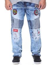 Men - Patch Biker Pants (B&T)