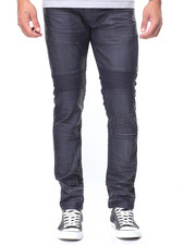 Jeans & Pants - Front Flap Pocket Coated Jeans