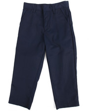 DRJ School Uniforms - Boys Flat Front Navy Pants (4-7)