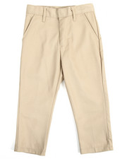 DRJ School Uniforms - Boys Flat Front Khaki Pants (4-7)