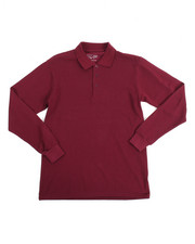 DRJ School Uniforms - L/S Boys Polo Pique Shirt (16-20)