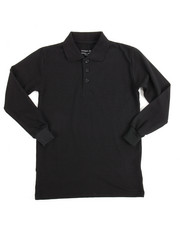 DRJ School Uniforms - L/S Boys Polo Pique Shirt (8-14)