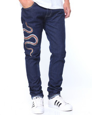 Jeans & Pants - Snake Embroidery Jeans