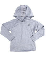 Tops - Marled Popover L/S Hoody (4-7)