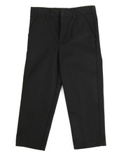 DRJ School Uniforms - Boys Flat Front Black Pants (4-7)