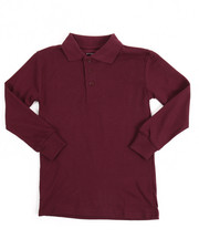 DRJ School Uniforms - L/S Boys Polo Pique Shirt (4-7)