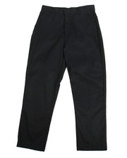 DRJ School Uniforms - Boys Flat Front Black Pants (16-20)