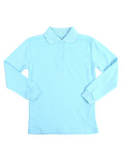 Tops - L/S Girls Knit Polo Shirt (7-20)