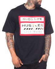 Men - Good Life/Hustler Side Zip S/S Tee (B&T)