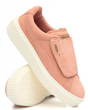 Women - Suede Platform Strap Sneakers
