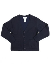 DRJ School Uniforms - Boys V-neck Cardigan Sweater (8-20)