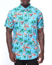 Buyers Picks - S/S Flamingo Printed Woven