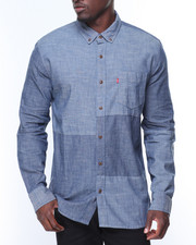 Button-downs - L/S Patches Chambray