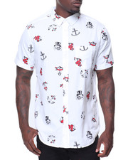 Buyers Picks - S/S Anchor Skull Printed Woven