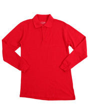 DRJ School Uniforms - L/S Boys Polo Pique Shirts (16-20)