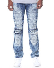 Jeans & Pants - Denim Wash Knee Detail Ripped Jeans