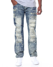 Jeans & Pants - Tint Wash Ripped/Patches Jeans