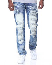 Jeans & Pants - Dark Blue Ripped/Patches Jeans