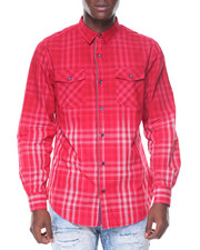 Buyers Picks - L/S Cotton Woven Plaid Ombre Shirts