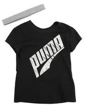 Puma - S/S Tee And Headband (4-6X)