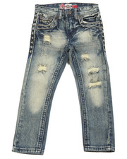 Boys - Premium Thick Stitch Embroidery Jeans (4-7)