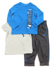 Puma - 3 Piece Tees & Pant Long Set (2T-4T)