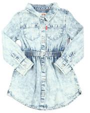 Levi's - L/S Fit/Flare Dress (2T-4T)