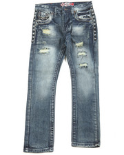 Boys - Premium Thick Stitch Embroidery Jeans (8-20)