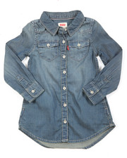 Sizes 2T-4T - Toddler - L/S Western Dress (2T-4T)