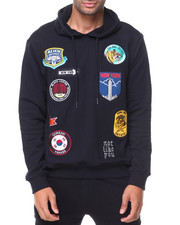 MADBLUE - French Terry Pullover Patches Hoodie